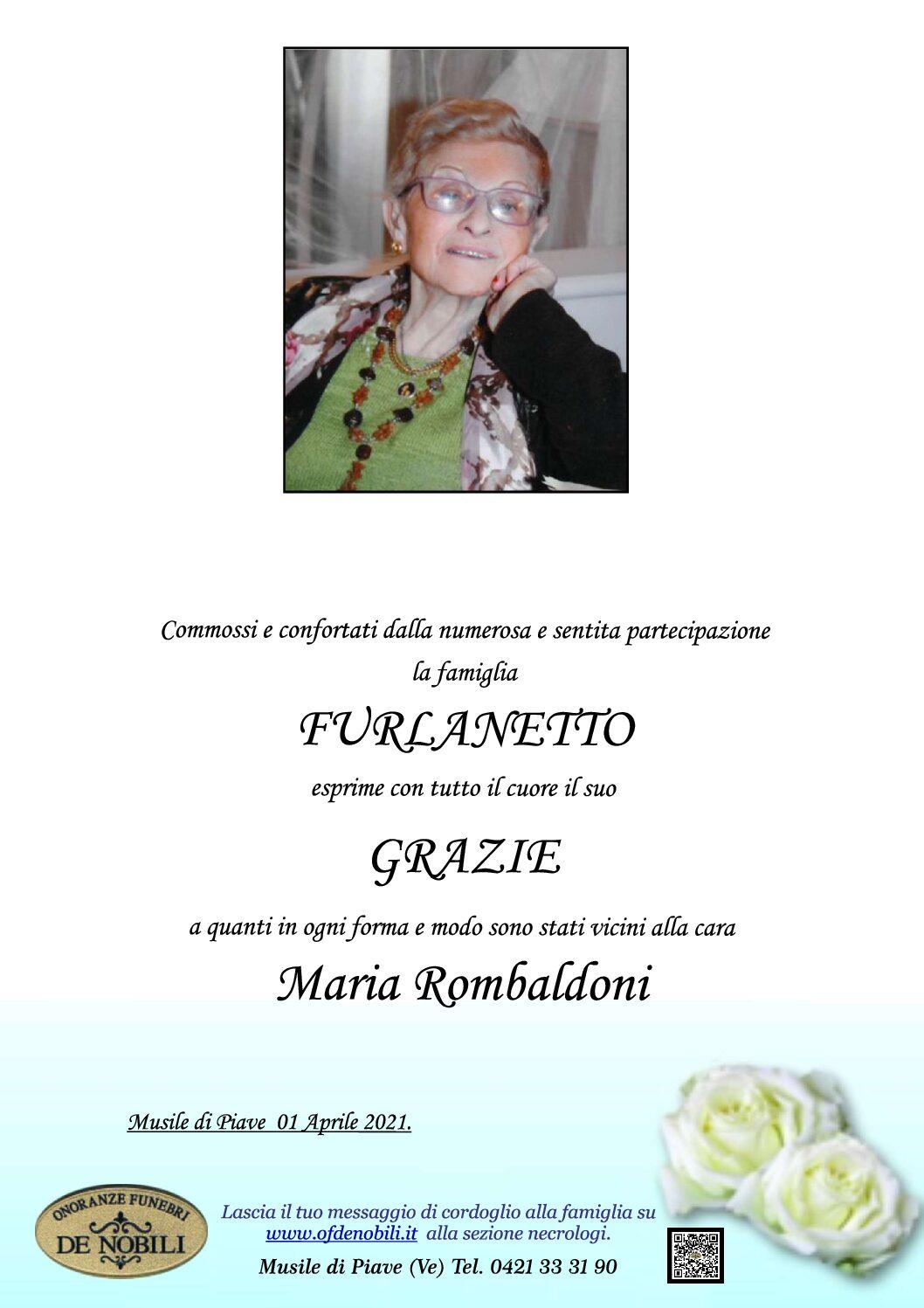 MARIA ROMBARDONI