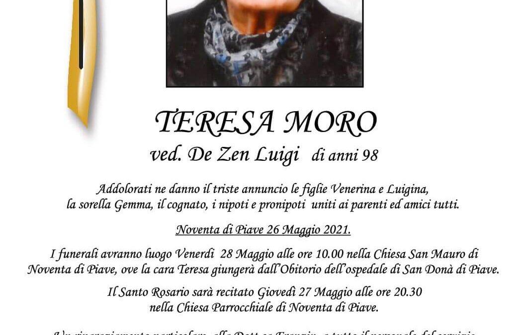Teresa Moro   ved. De Zen Luigi